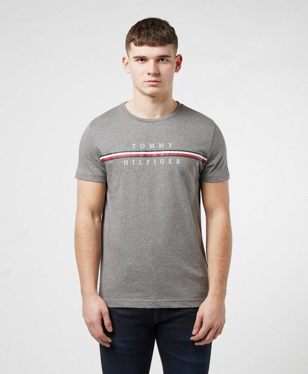 Tommy Hilfiger Stripe Logo Short Sleeve T-Shirt