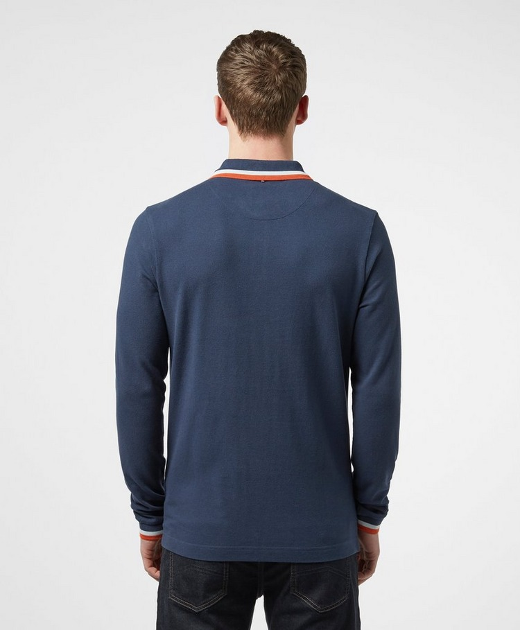 Pretty Green Standard Tipped Long Sleeve Polo Shirt