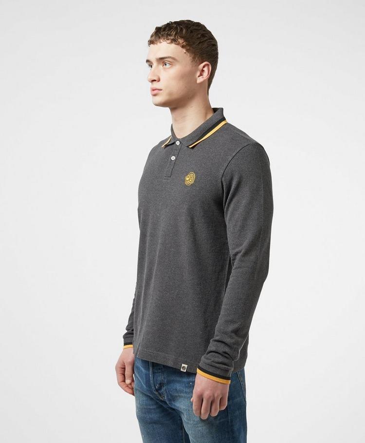 Pretty Green Standard Tipped Long Sleeve Polo Shirt