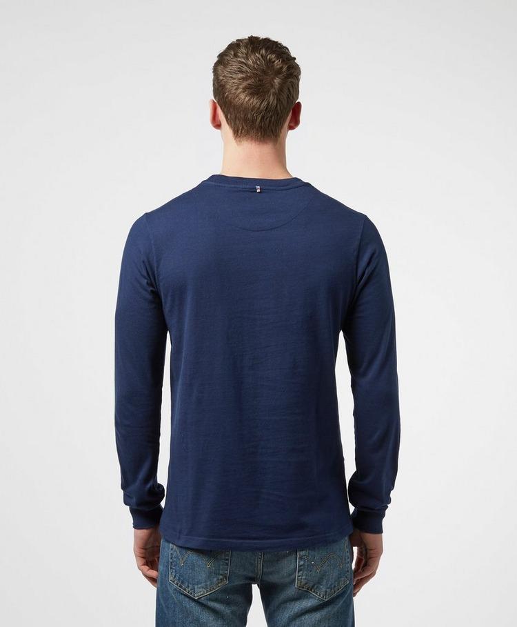 Pretty Green Workshop Vertical Stripe Long Sleeve T-Shirt