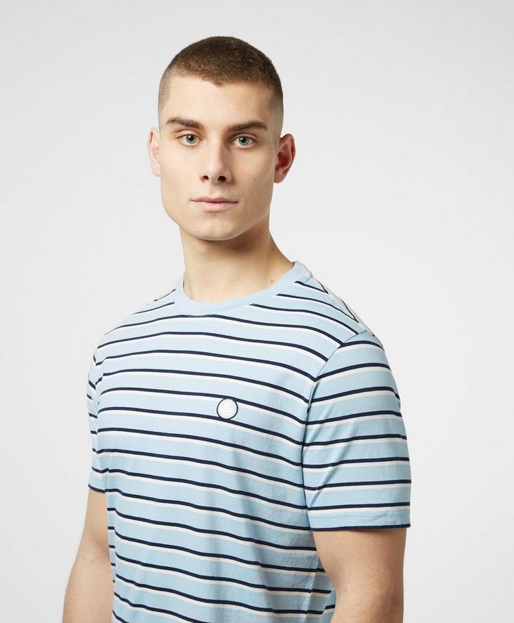 Pretty Green Complex Stripe Short Sleeve T-Shirt