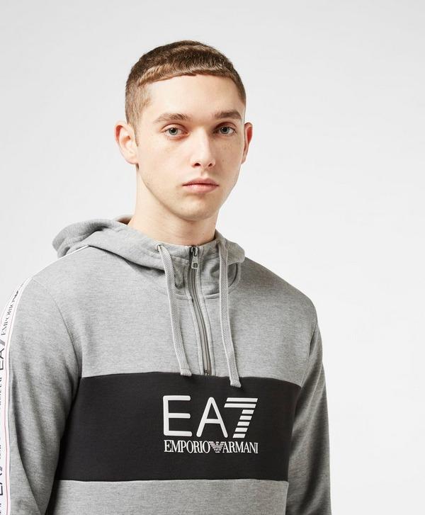 Emporio Armani EA7 Colour Block Tape Half Zip Hoodie - Exclusive