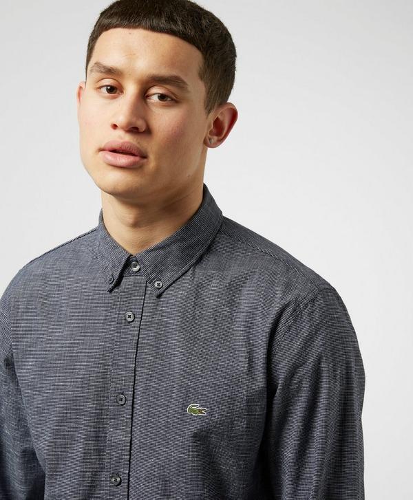 Lacoste Jacquard Poplin Long Sleeve Shirt