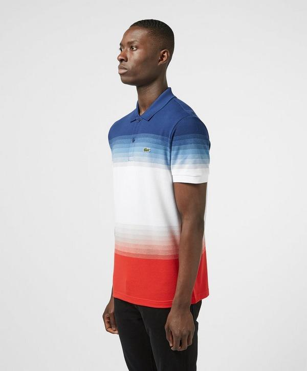 Lacoste Tricolour Fade Short Sleeve Polo Shirt