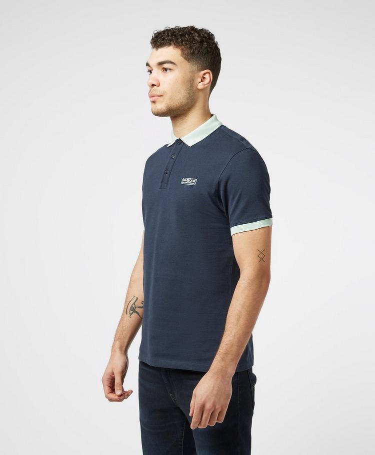 Barbour International Contrast Collar Short Sleeve Polo Shirt