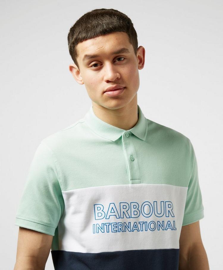 Barbour International Bold Logo Short Sleeve Polo Shirt