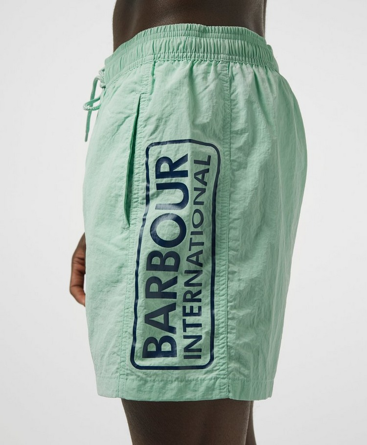 Barbour International Large Logo Swim Shorts