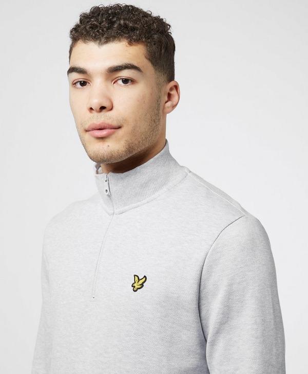 Lyle & Scott Pique Half Zip Sweatshirt