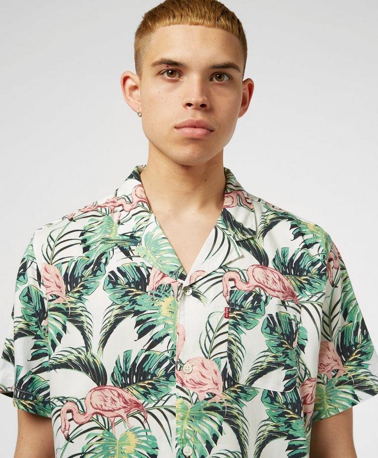 Levis Flamingo Cuban Short Sleeve Shirt
