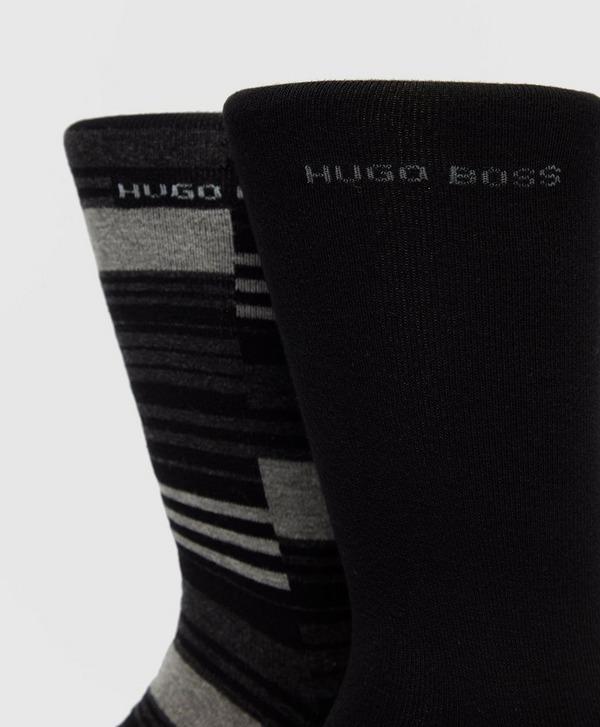 BOSS 2 Pack Patterned Socks