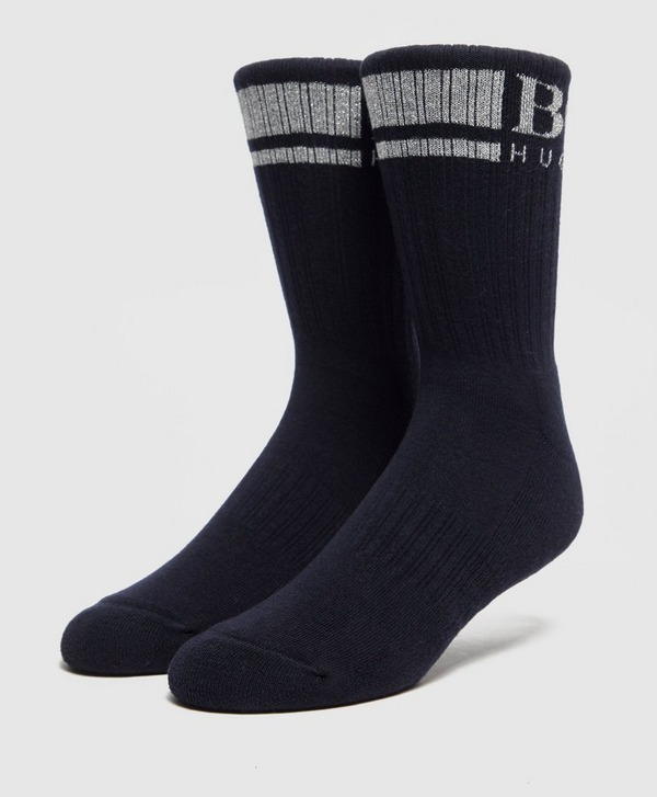 BOSS Metallic Ribbed Socks