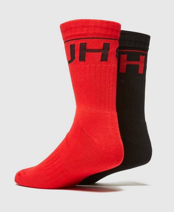 HUGO 2 Pack Ribbed Socks