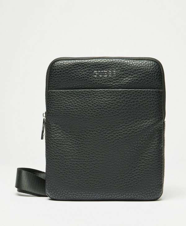 Guess PU Metal Logo Crossbody Bag