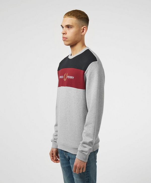 Fred Perry Colour Block Crew Sweatshirt