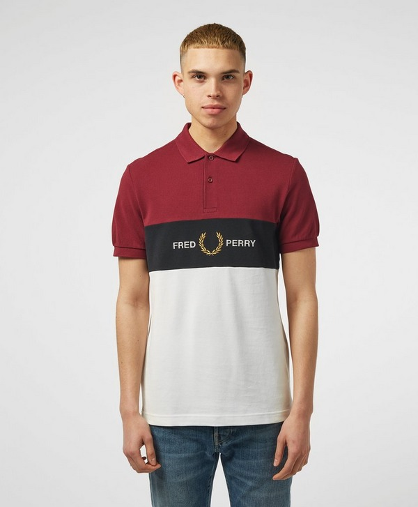 Fred Perry Panel Short Sleeve Polo Shirt
