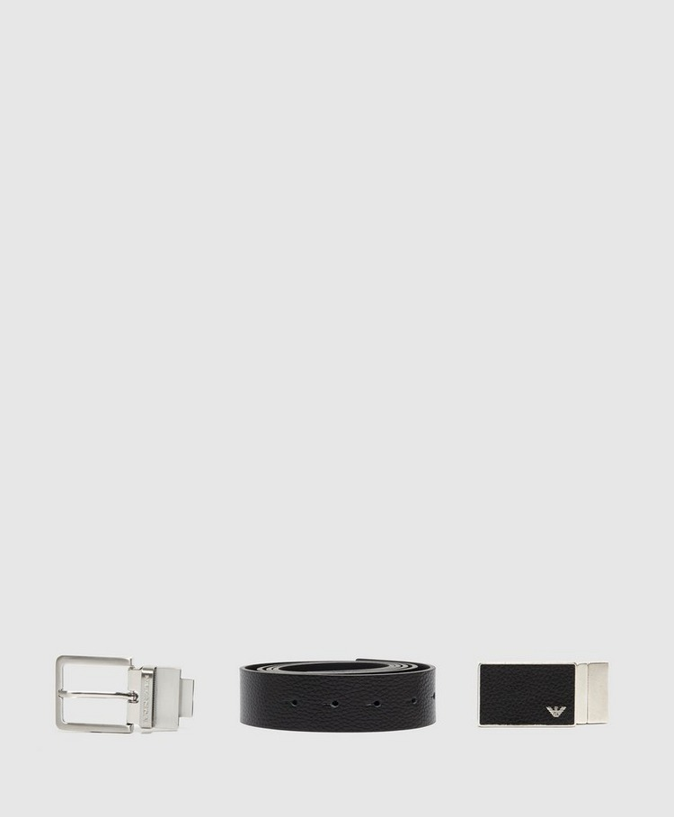 Emporio Armani Square Buckle Belt Gift Set