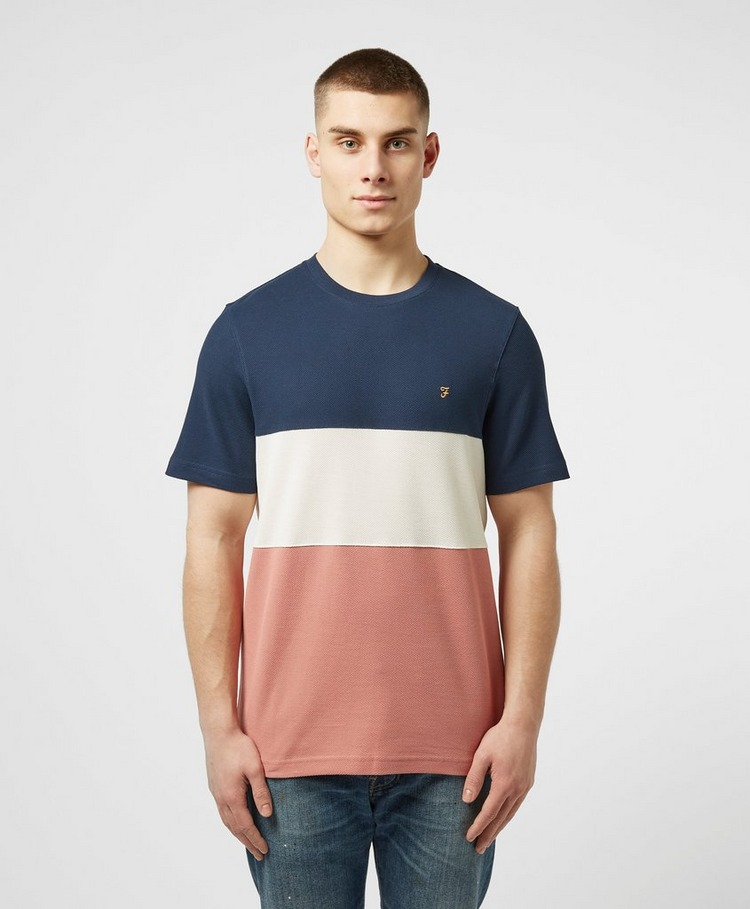 Farah Colour Block Pique Short Sleeve T-Shirt