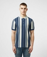 Farah Wigwam Vertical Stripe Short Sleeve Polo Shirt