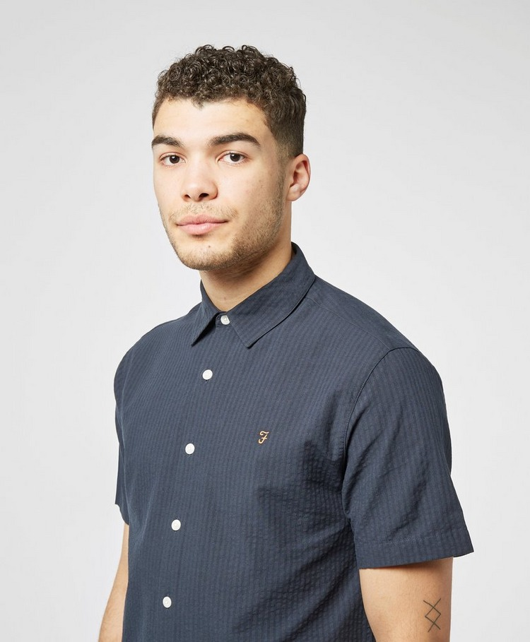 Farah Hudspeth Seersucker Short Sleeve Shirt