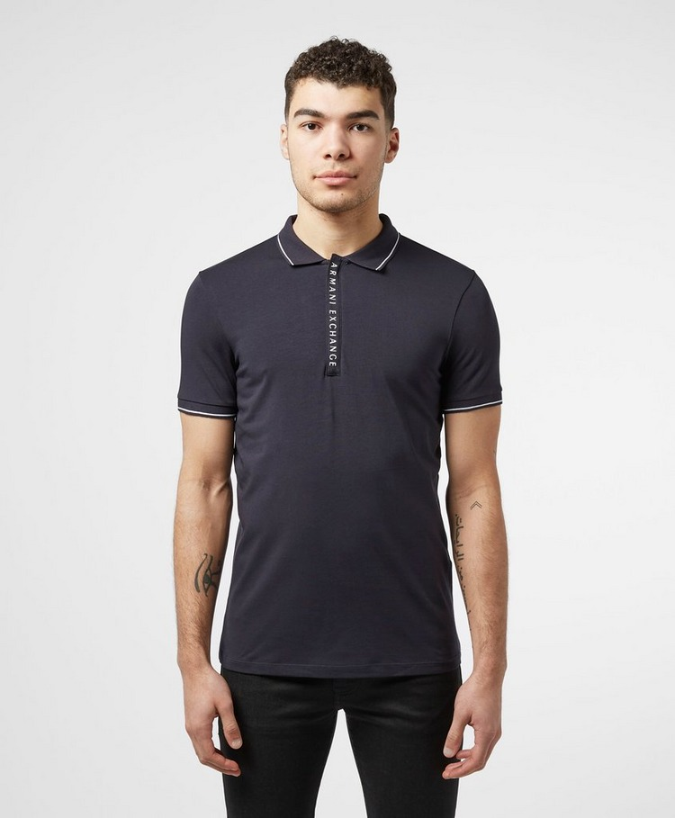 Armani Exchange Logo Placket Short Sleeve Polo Shirt