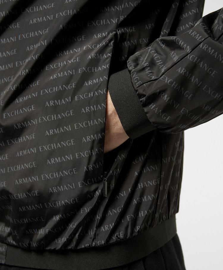 Armani Exchange All Over Logo Bomber Jacket