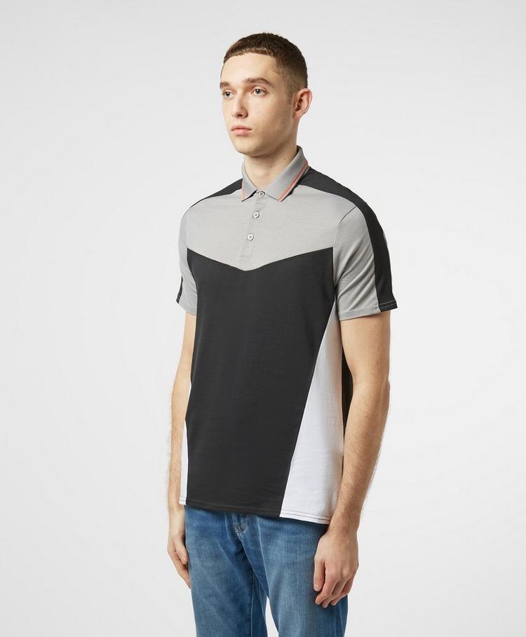 Armani Exchange Geometric Short Sleeve Polo Shirt