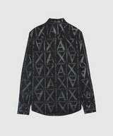 Armani Exchange All Over Logo Long Sleeve Shirt
