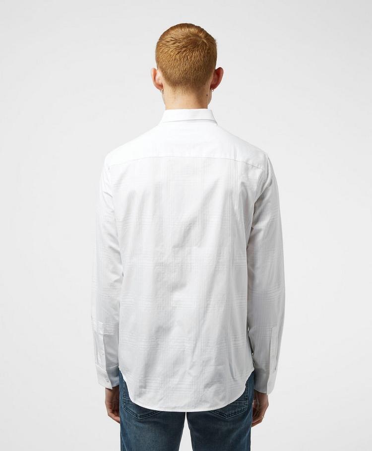 Armani Exchange Tonal Check Long Sleeve Shirt
