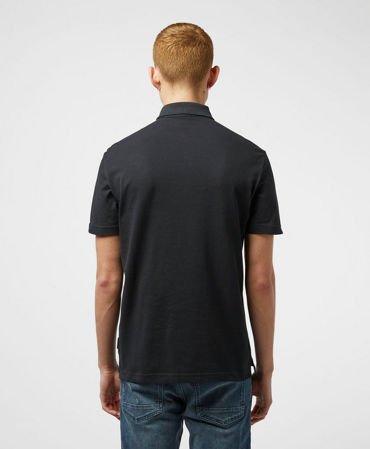 Armani Exchange Reflective Shoulder Short Sleeve Polo Shirt