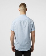 Armani Exchange Vertical Stripe Linen Short Sleeve Shirt