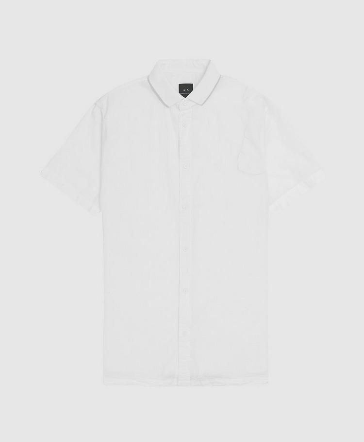 Armani Exchange Seersucker Short Sleeve Shirt
