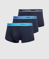 Emporio Armani Loungewear 3 Pack Repeat Logo Boxer Shorts
