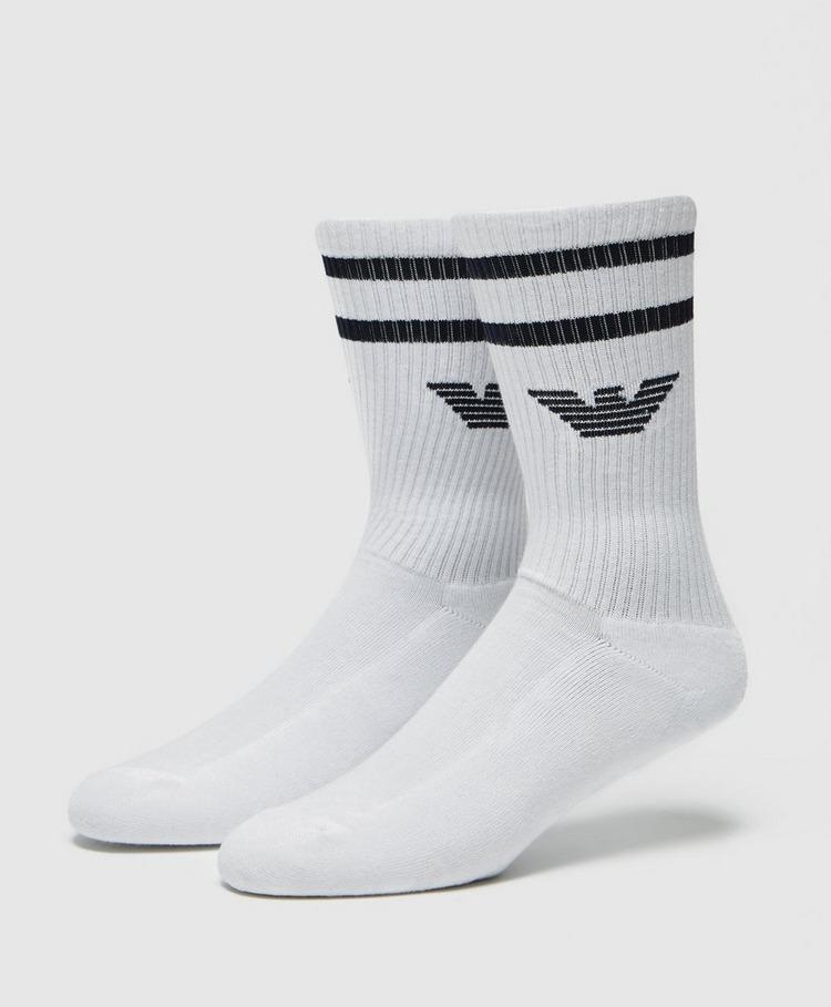 Emporio Armani 2 Pack Eagle Sport Socks
