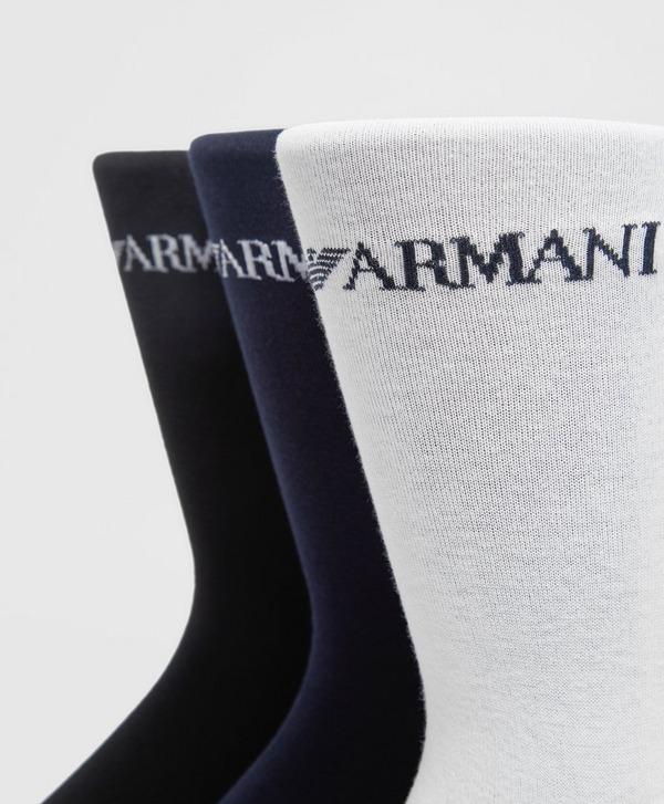 Emporio Armani Loungewear 3 Pack Crew Socks