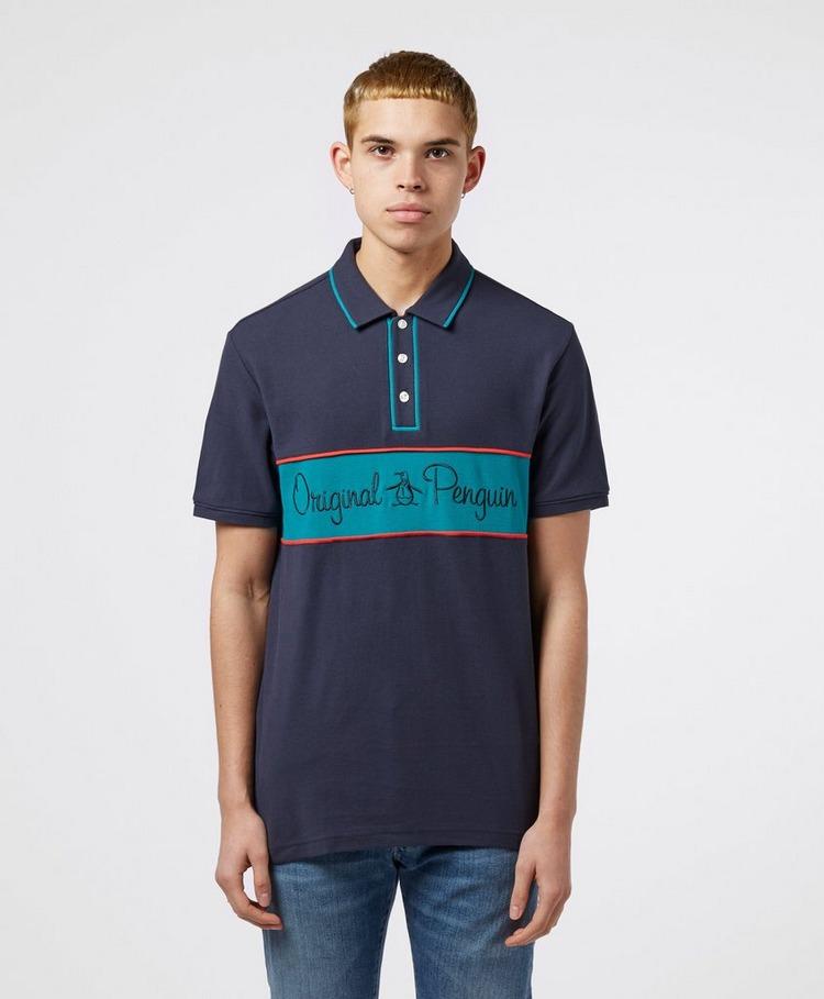 Original Penguin Colour Block Short Sleeve Polo Shirt