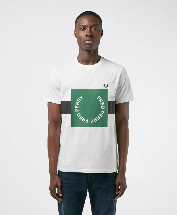 Fred Perry Bold Square Laurel Short Sleeve T-Shirt