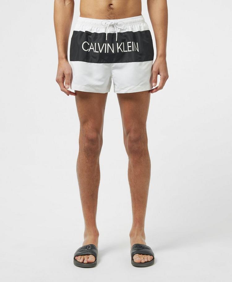 Calvin Klein Swim Block Logo Swim Shorts