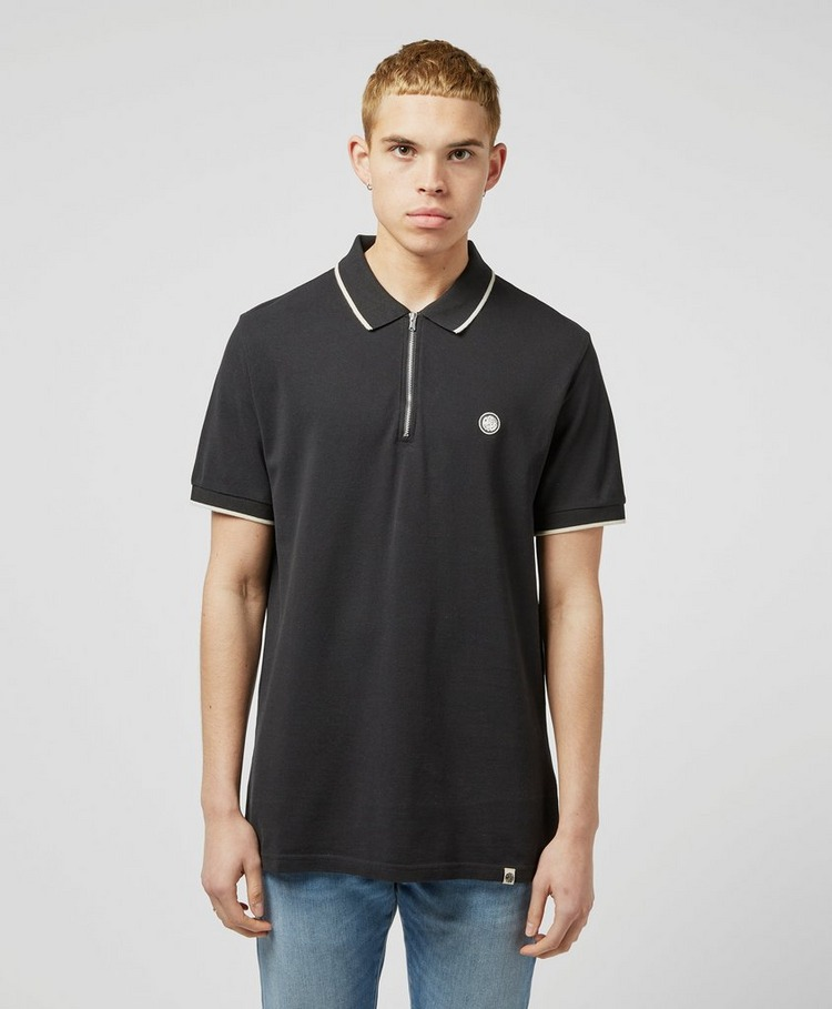 Pretty Green Zohann Zip Short Sleeve Polo Shirt - Exclusive