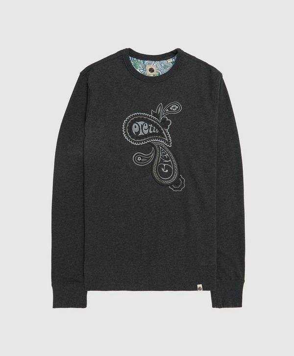 Pretty Green Marshall Embroidered Paisley Sweatshirt