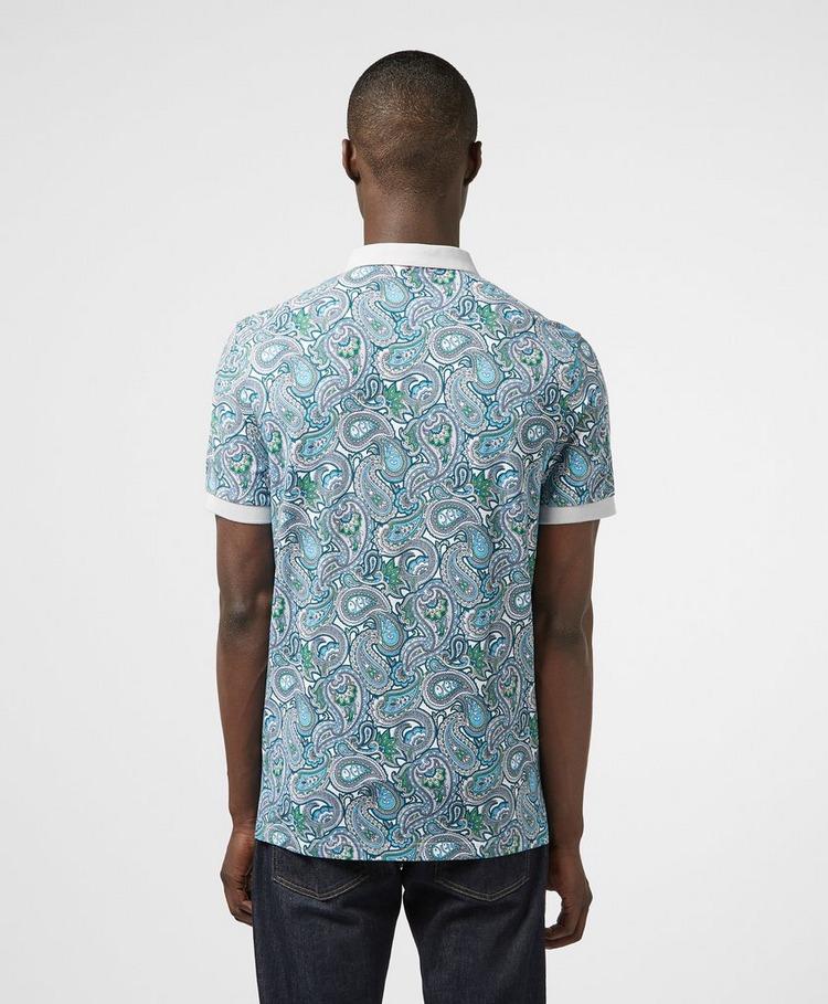 Pretty Green Marshall Print Short Sleeve Polo Shirt