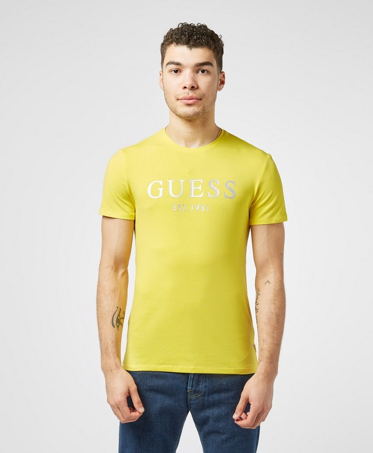 GUESS Metallic Logo Short Sleeve T-Shirt