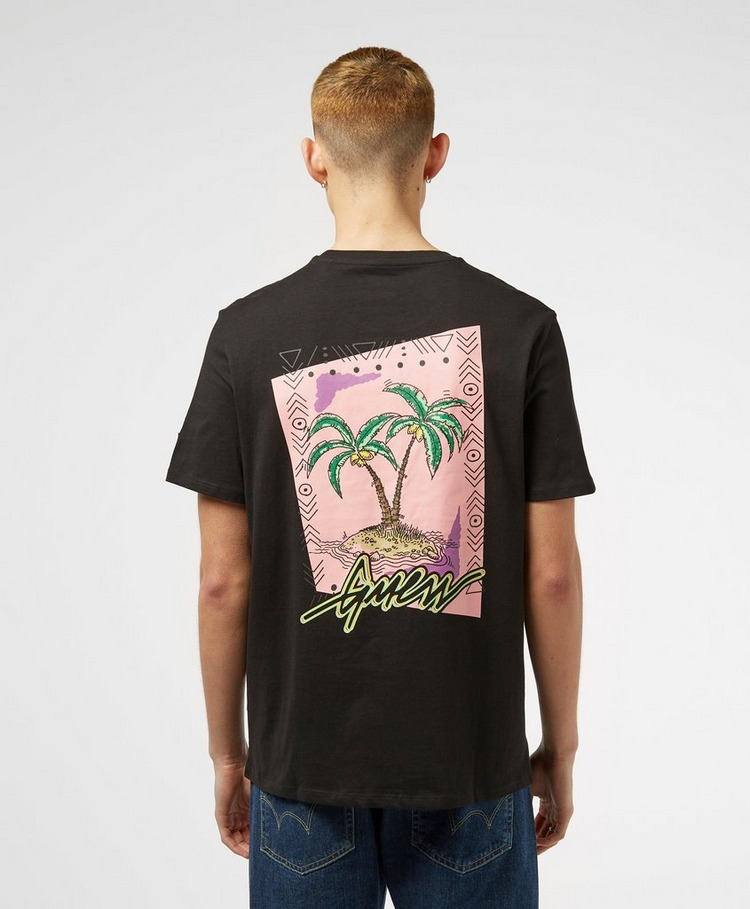 GUESS Script Palm Short Sleeve Back Print T-Shirt