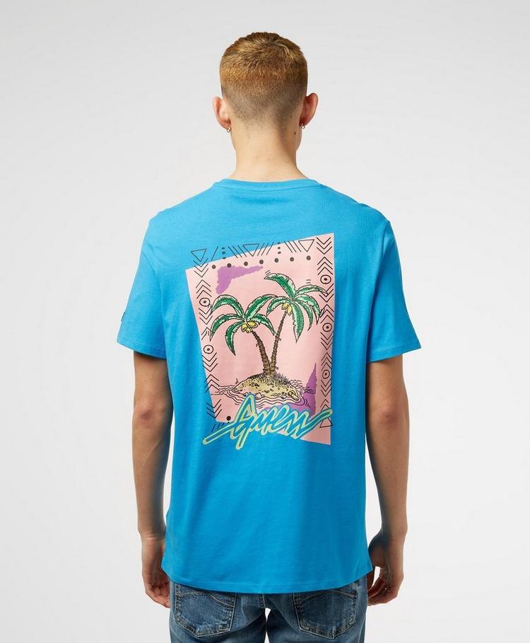 GUESS Script Palm Short Sleeve Back Print T-Shirt