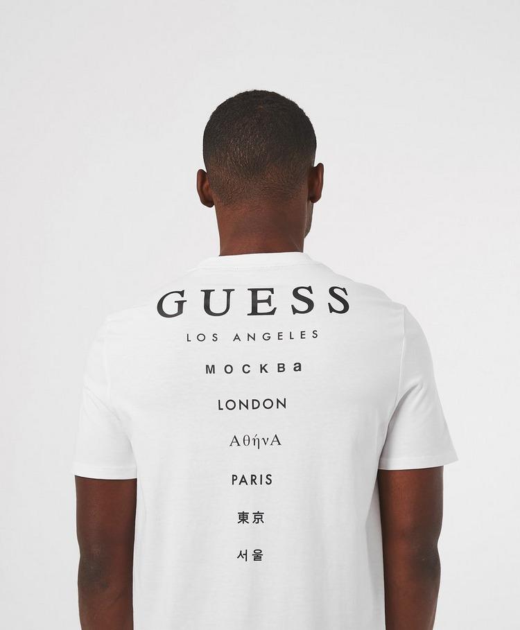GUESS City Back Print Short Sleeve T-Shirt