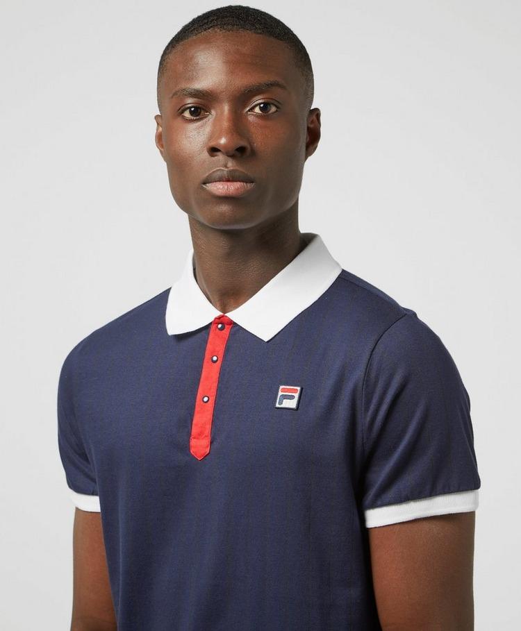 Fila Borg Stripe Short Sleeve Polo Shirt