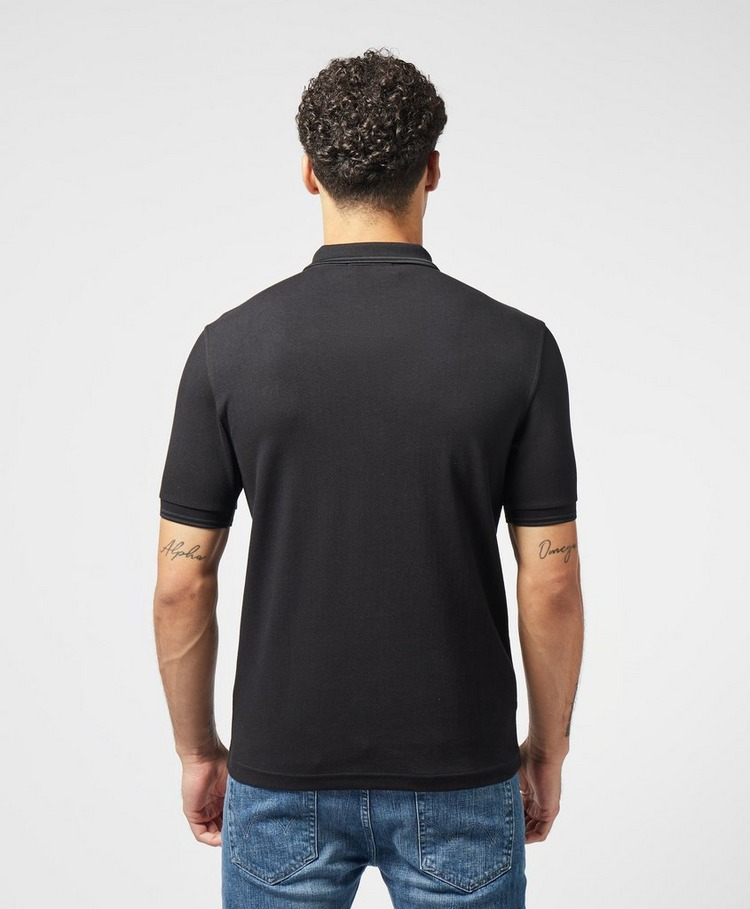 Fred Perry Zip Neck Short Sleeve Polo Shirt