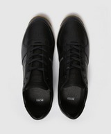 BOSS Glaze Leather Lazercut Trainers