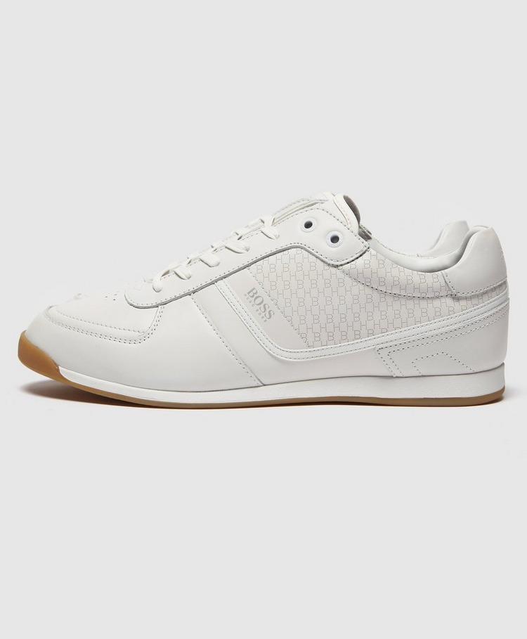BOSS Glaze Leather Lazercut Trainers