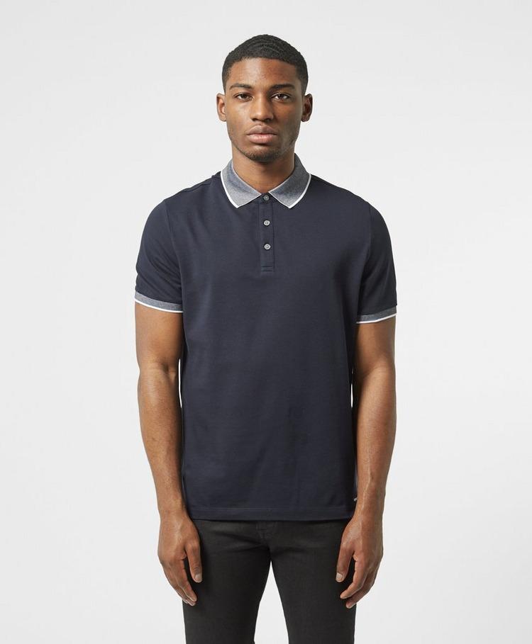 Michael Kors Logo Collar Short Sleeve Polo Shirt