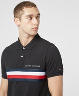 Tommy Hilfiger Chest Tape Short Sleeve Polo Shirt